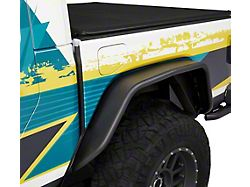 Bestop HighRock 4x4 Granite Series Rear Fender Flares; Black (20-22 Jeep Gladiator JT)