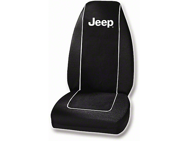 Embroidered Seat Cover with Jeep Logo (Universal; Some Adaptation May Be Required)