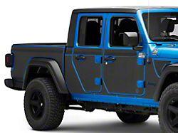 Mek Magnet Magnetic Body Armor; Matte Black (20-22 Jeep Gladiator JT)