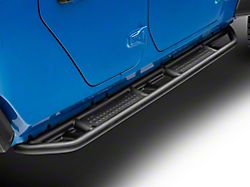 Rocker Armor Steps; Fine Textured Black (20-22 Jeep Gladiator JT)