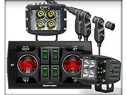 Superchips TrailDash 3 and LIT LED Wide Shot Pods (20-22 Jeep Gladiator JT)