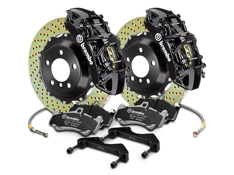 Brembo GT Series 6-Piston Front Brake Kit - 2-Piece Cross Drilled Rotors - Black (04-08 RAM 1500)