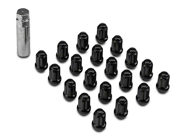 Black 6 Spline Lug Nut Kit - 14mm x 1.5 (12-18 RAM 1500)