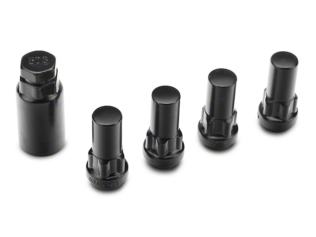 XL Locks with Key for Black Acorn Lug Nuts - 14mm x 1.5 (12-18 RAM 1500)