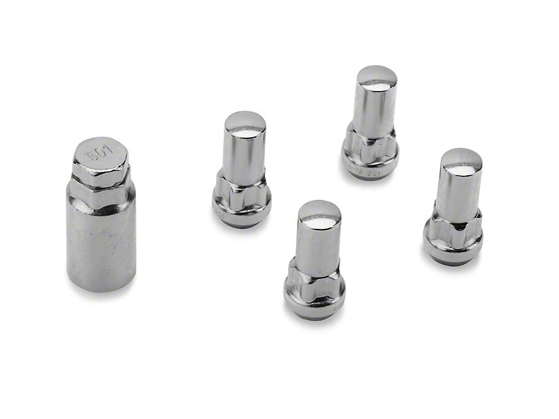 Coyote XL Locks with Key for Chrome Acorn Lug Nuts - 9/16 in. (02-11 RAM 1500)