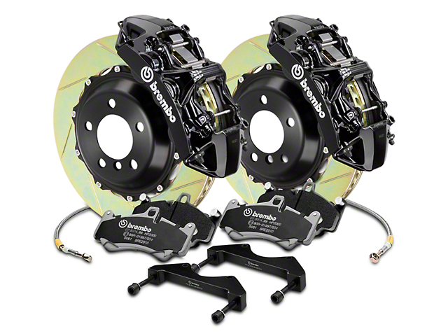 Brembo GT Series 6-Piston Front Brake Kit - 2-Piece Slotted Rotors - Black (04-08 RAM 1500)