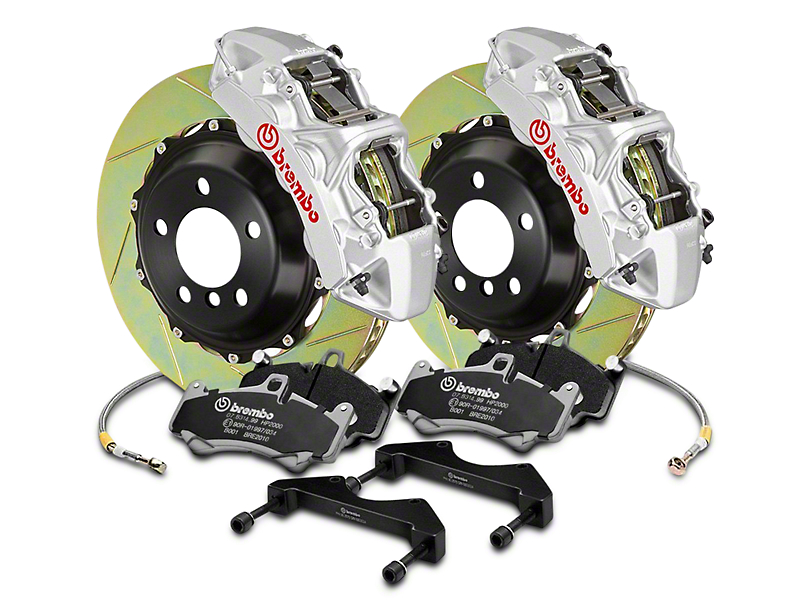 Brembo GT Series 6-Piston Front Brake Kit - 2-Piece Slotted Rotors - Silver (04-08 RAM 1500)