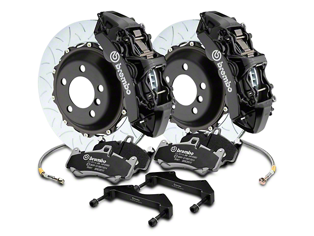 Brembo GT Series 6-Piston Front Brake Kit - Type 3 Slotted Rotors - Black (04-08 RAM 1500)