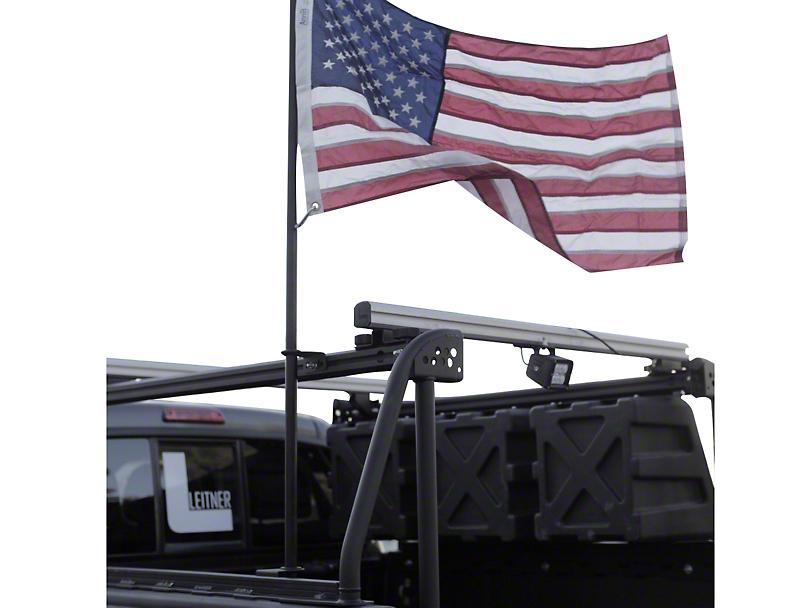 Leitner Designs Bed Rack Flag Pole Kit (02-19 RAM 1500)