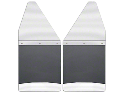 Husky 12 in. Wide KickBack Mud Flaps - Stainless Steel Top & Weight (04-18 RAM 1500)