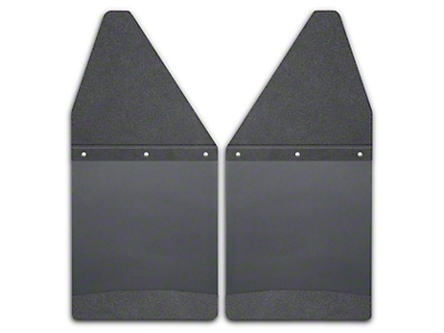 Husky 12 in. Wide KickBack Mud Flaps - Textured Black Top & Weight (04-18 RAM 1500)
