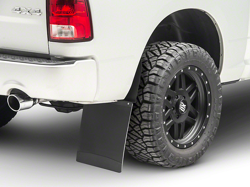 Husky 14 in. Wide KickBack Mud Flaps - Textured Black Top & Weight (04-18 RAM 1500)
