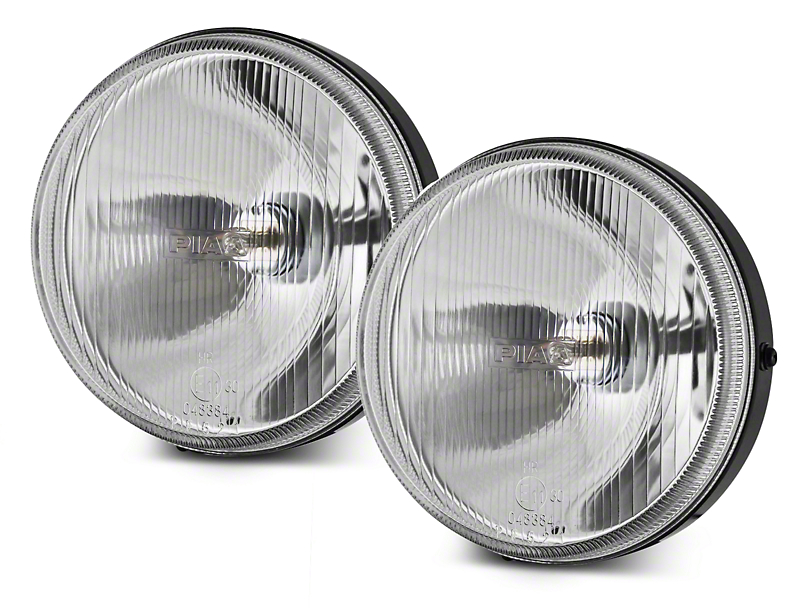 PIAA 40 Series 6 in. Round Clear Halogen Lights - Driving Beam - Pair