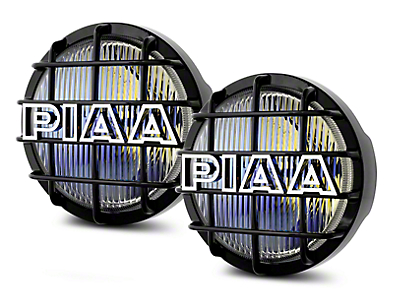 PIAA 520 Series 6 in. Round Ion Yellow Halogen Lights - Fog Beam - Pair