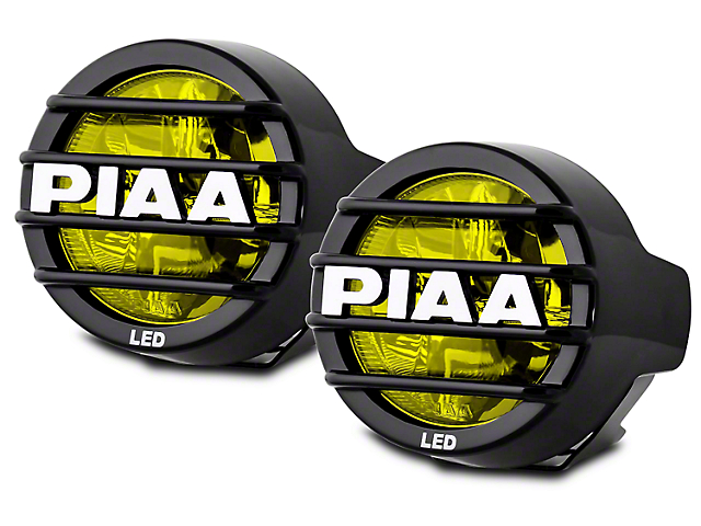 PIAA LP530 3.5 in. Round Ion Yellow LED Lights - Fog Beam - Pair
