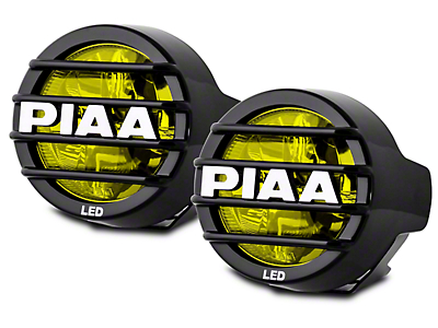 PIAA LP530 3.5 in. Round Ion Yellow LED Lights - Fog Beam - Pair (02-17 RAM 1500)