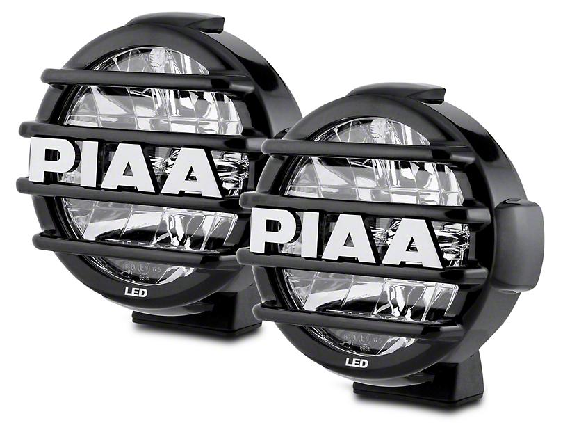 PIAA LP570 7 in. Round LED Lights - Driving Beam - Pair