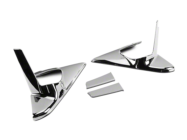 Chrome Mirror Base Covers (10-18 RAM 1500 w/ Tow Mirrors & Turn Signals)