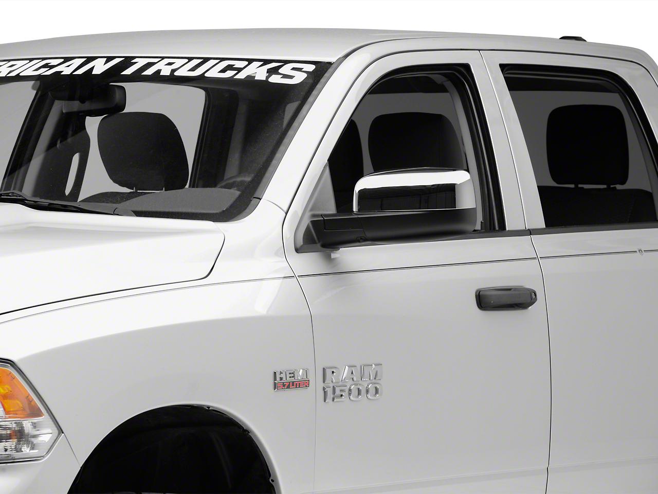 Chrome Mirror Covers (09-18 RAM 1500 w/o Tow Mirrors & Turn Signals)