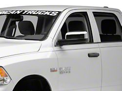 Mirror Covers; Chrome (09-18 RAM 1500 w/o Tow Mirrors & Turn Signals)