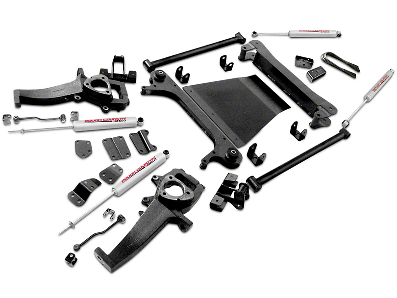 Rough Country 4-Inch Suspension Lift Kit (02-05 4WD RAM 1500)