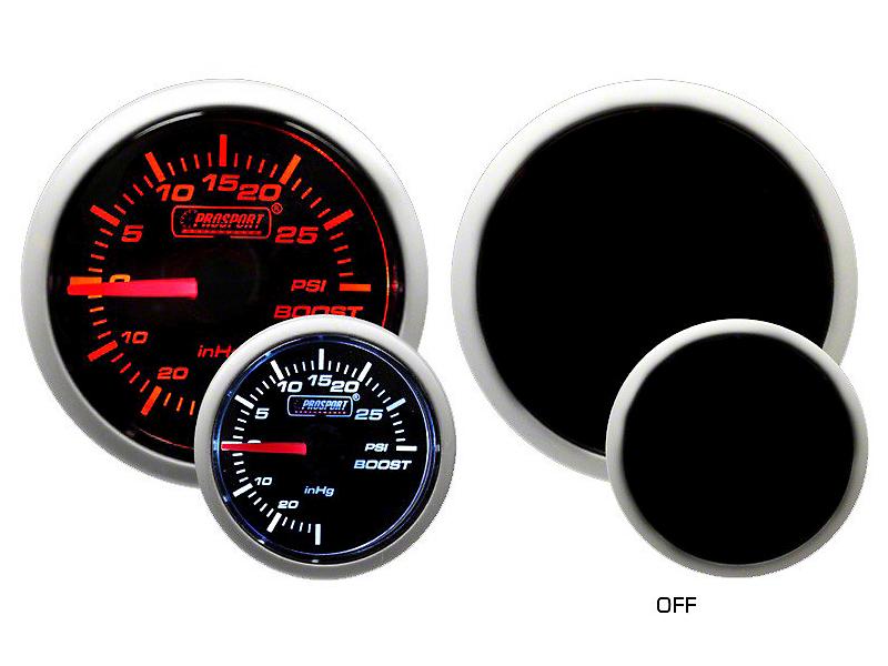 Prosport Dual Color 30 PSI Boost/Vac Gauge - Mechanical - Amber/White (02-19 RAM 1500)