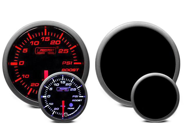 Prosport Dual Color 30 PSI Boost/Vac Gauge - Electrical - Amber/White (02-19 RAM 1500)