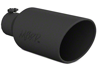 MBRP 7 in. Angled Roll Edge Exhaust Tip - Black Coated - 4 in. Connection (02-19 RAM 1500)