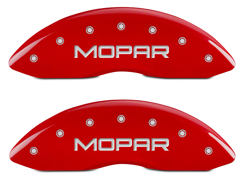 MGP Red Caliper Covers w/ MOPAR Logo - Front & Rear (06-10 RAM 1500, Excluding SRT-10)