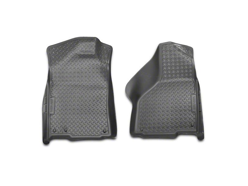 Husky Classic Front Floor Liners - Gray (02-18 RAM 1500 Regular Cab, Quad Cab; 06-08 Mega Cab)