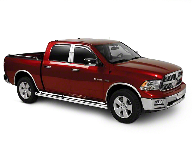 Putco Tinted Element Window Visors - Channel Mount - Fronts Only (09-18 RAM 1500 Quad Cab, Crew Cab)