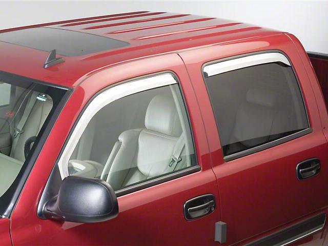 Putco Element Chrome Window Visors - Channel Mount - Fronts Only (09-18 RAM 1500 Quad Cab, Crew Cab)