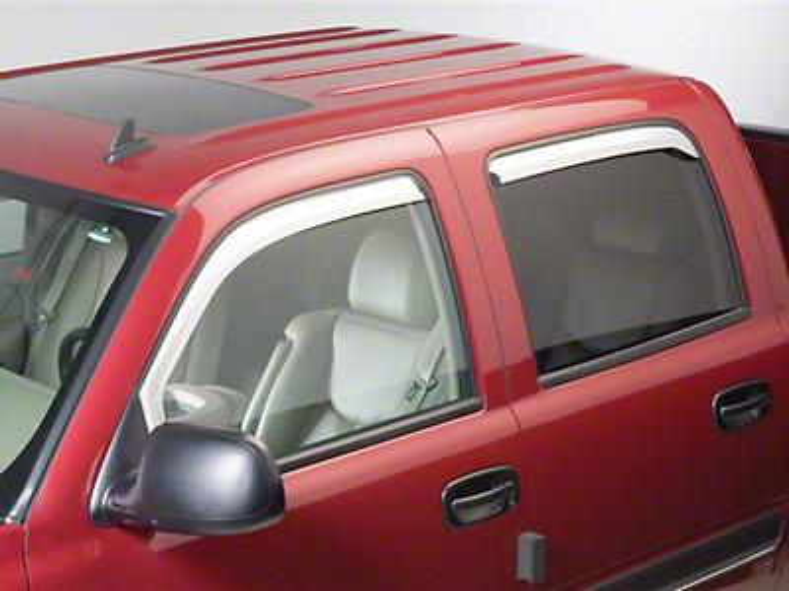 Putco Chrome Element Window Visors - Channel Mount - Fronts Only (09-18 RAM 1500 Quad Cab, Crew Cab)