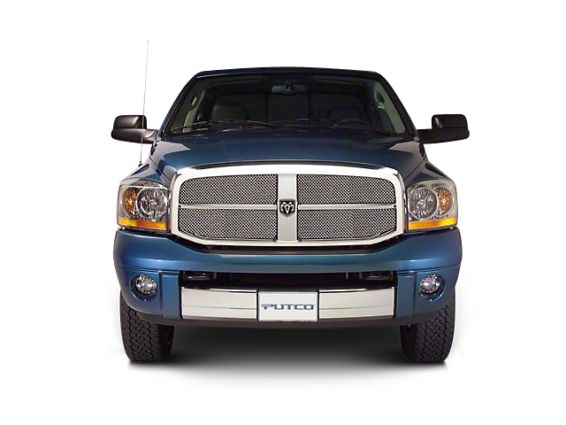 Putco Liquid Mesh Upper Replacement Grille - Chrome (06-08 RAM 1500)