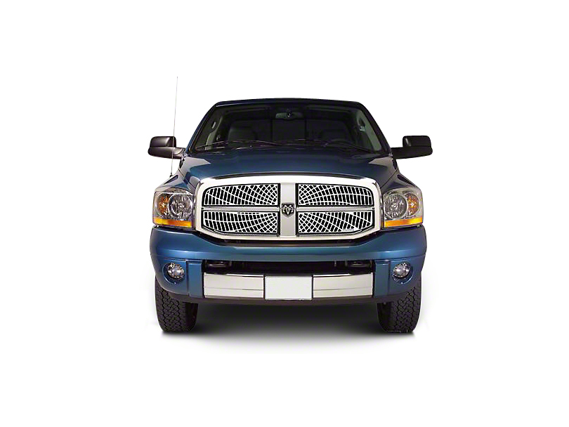 Putco Liquid Spider Web Upper Replacement Grilles - Polished (06-08 RAM 1500)