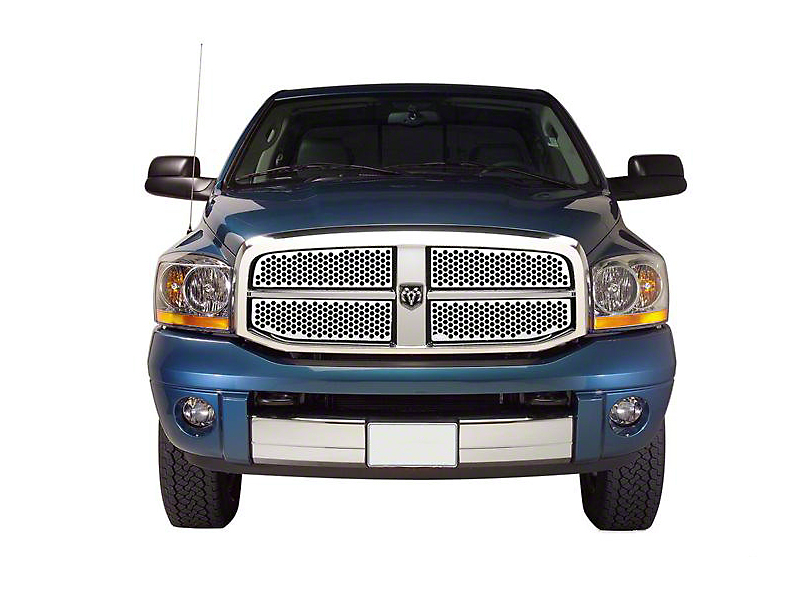 Putco Punch Stainless Steel Upper Overlay Grilles - Polished (06-08 RAM 1500)