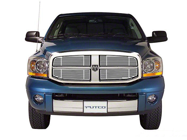 Putco Liquid Billet Upper Replacement Grilles - Polished (06-08 RAM 1500)