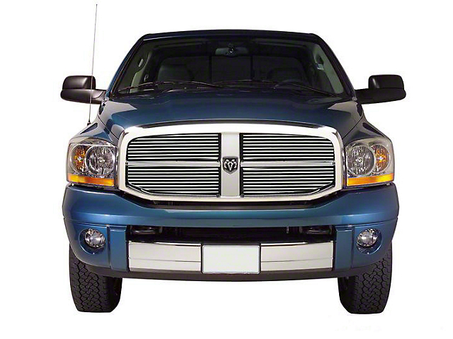 Putco Shadow Billet Upper Overlay Grilles - Polished (06-08 RAM 1500)