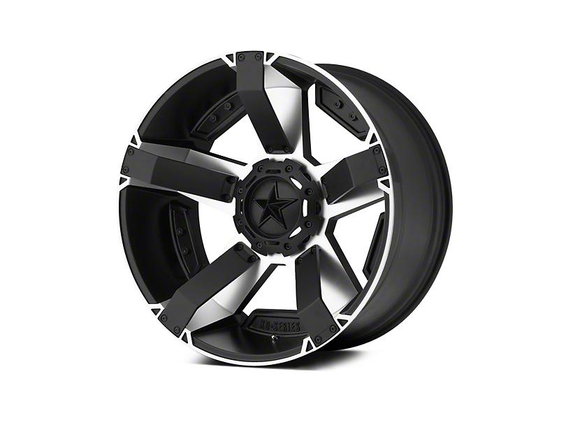 Rockstar XD811 RS2 Black Machined 5-Lug Wheel - 22x9.5; 12mm Offset (02-18 RAM 1500, Excluding Mega Cab)