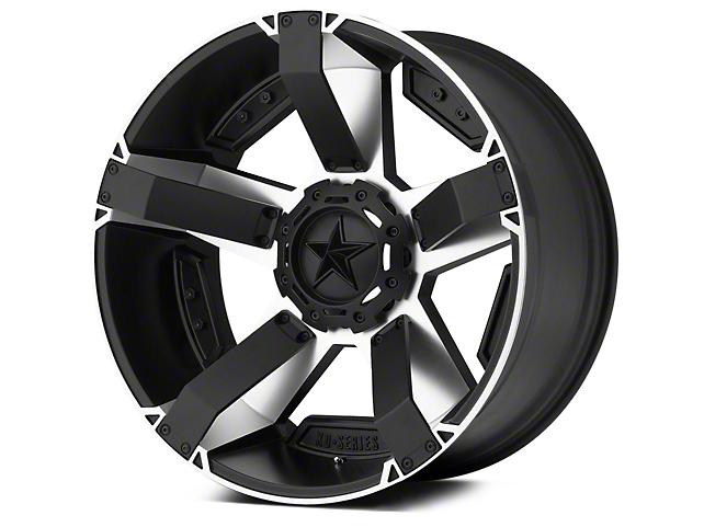 Rockstar XD811 RS2 Black Machined 5-Lug Wheel - 22x9.5 (02-18 RAM 1500, Excluding Mega Cab)
