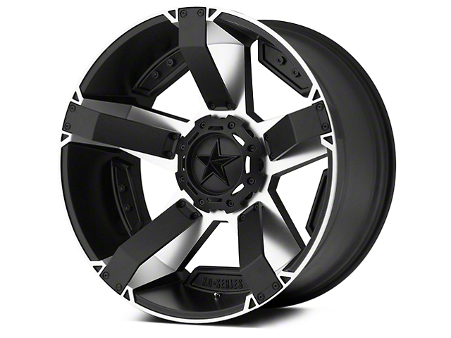 Rockstar XD811 RS2 Black Machined 5-Lug Wheel - 17x8; 10mm Offset (02-18 RAM 1500, Excluding Mega Cab)