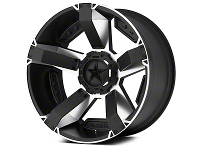Rockstar XD811 RS2 Black Machined 5-Lug Wheel - 17x8 (02-18 RAM 1500, Excluding Mega Cab)