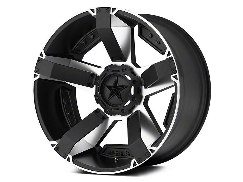 Rockstar XD811 RS2 Black Machined 5-Lug Wheel - 17x9 -12mm Offset (02-18 RAM 1500, Excluding Mega Cab)