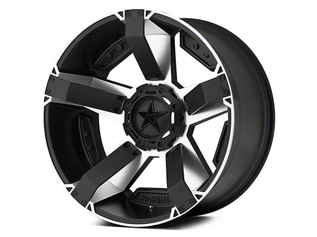 Rockstar XD811 RS2 Black Machined 5-Lug Wheel - 17x9 (02-18 RAM 1500, Excluding Mega Cab)
