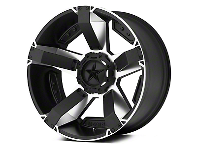 Rockstar XD811 RS2 Black Machined 5-Lug Wheel - 18x9 (02-18 RAM 1500, Excluding Mega Cab)