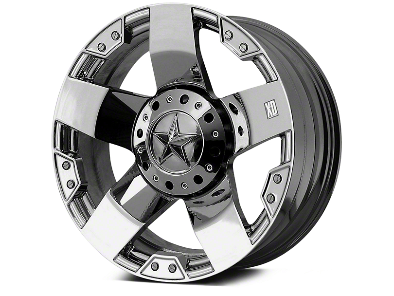 Rockstar XD775 Chrome 5-Lug Wheel - 20x10; -24mm Offset (02-18 RAM 1500, Excluding Mega Cab)