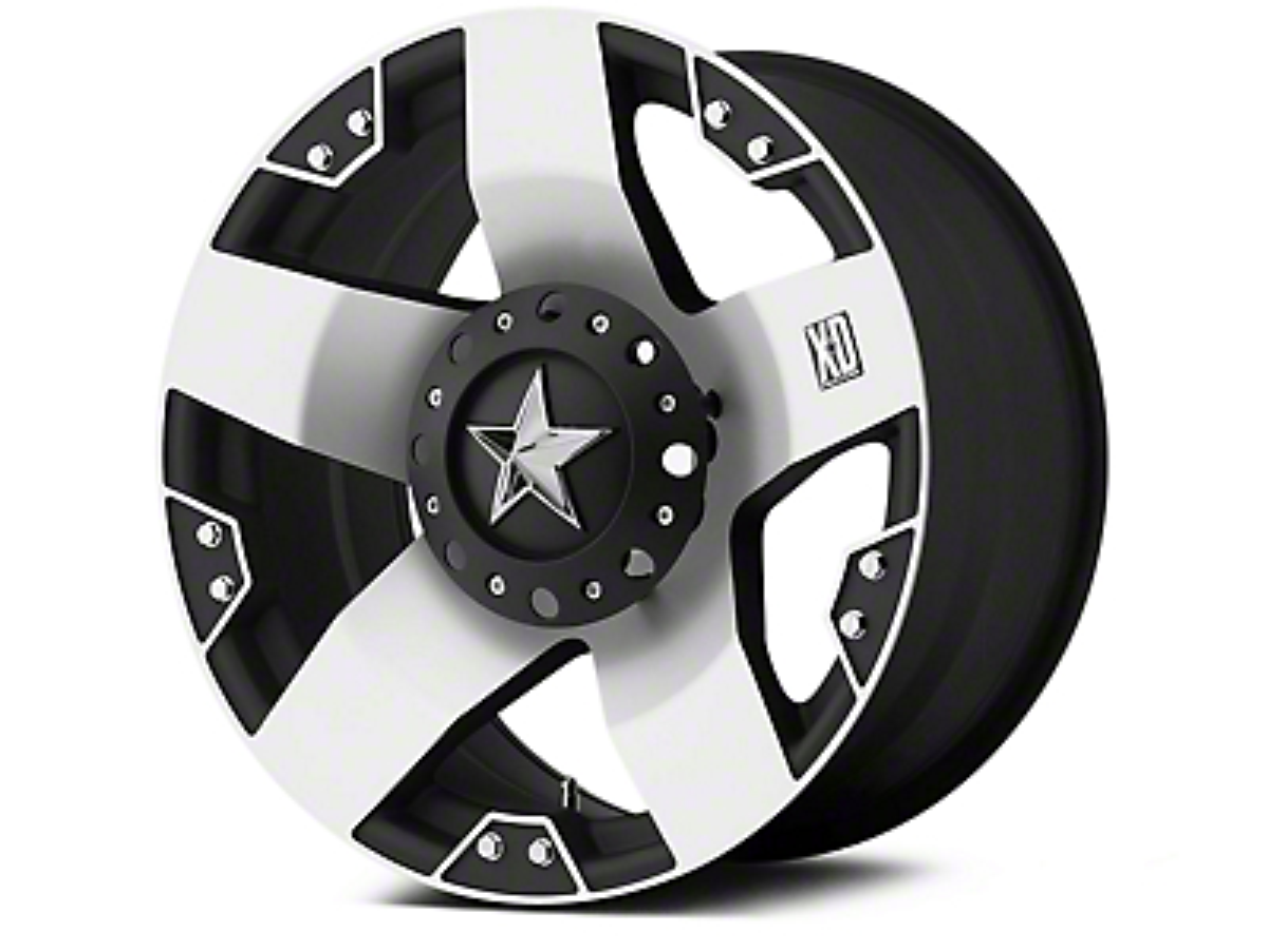 Rockstar XD775 Black Machined 5-Lug Wheel - 20x8.5 (02-18 RAM 1500, Excluding Mega Cab)