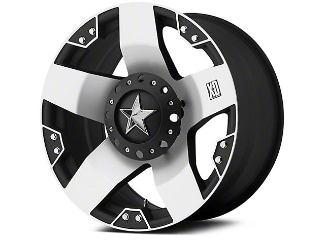 Rockstar XD775 Black Machined 5-Lug Wheel - 18x9 (02-18 RAM 1500, Excluding Mega Cab)