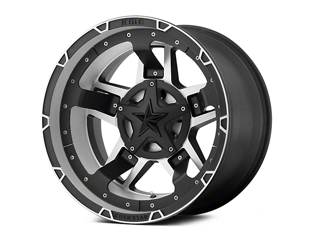 Rockstar XD827 RS3 Matte Black Machined 5-Lug Wheel - 20x12 (02-18 RAM 1500, Excluding Mega Cab)