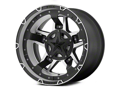 Rockstar XD827 RS3 Matte Black Machined 5-Lug Wheel - 22x12 (02-18 RAM 1500, Excluding Mega Cab)
